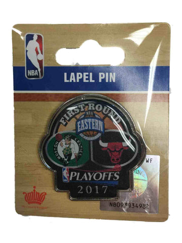 Shop Boston Celtics Chicago Bulls 2017 NBA Playoffs First Round Dueling Lapel Pin