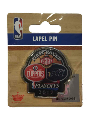 Los Angeles Clippers Utah Jazz 2017 NBA Playoffs First Round Dueling Lapel Pin