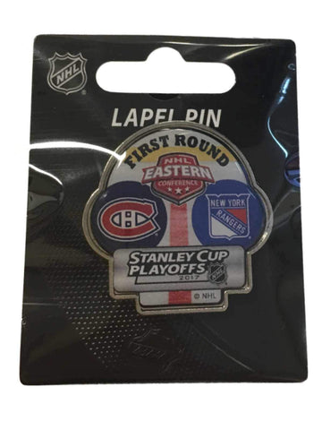 Shop Montreal Canadiens New York Rangers 2017 Stanley Cup Playoffs First Round Pin