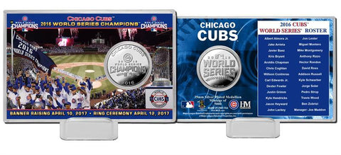 Shop Chicago Cubs Highland Mint 2016 World Series Ring Ceremony Silver Plated Coin
