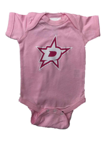 Shop Dallas Stars SAAG INFANT BABY Girl's Pink Lap Shoulder One Piece Outfit - Sporting Up