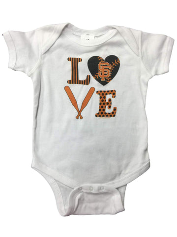 San Francisco Giants SAAG INFANT BABY Unisex White Love One Piece Outfit