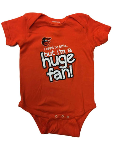 Shop Baltimore Orioles SAAG INFANT BABY Unisex Orange Huge Fan One Piece Outfit