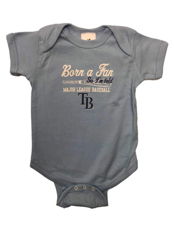 Shop Tampa Bay Rays INFANT BABY Unisex Light Blue Born a Fan One Piece Outfit