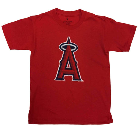 Los Angeles Angels SAAG YOUTH KIDS Red Short Sleeve 100% Cotton T-Shirt