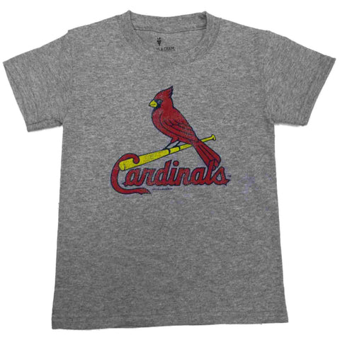 Shop St. Louis Cardinals SAAG YOUTH KIDS Gray Short Sleeve 100% Cotton T-Shirt