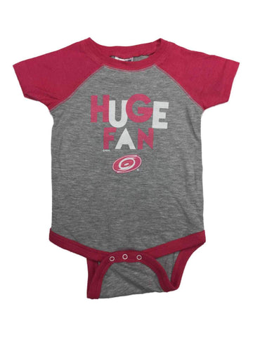 Shop Carolina Hurricanes INFANT BABY Girl Gray & Pink Huge Fan One Piece Outfit