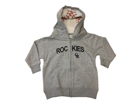 Shop Colorado Rockies SAAG TODDLER Unisex Gray Full Zip LS Hooded Jacket