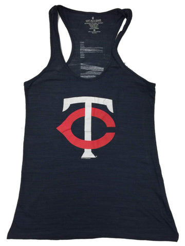 "Shop Minnesota Twins SAAG WOMEN Navy ""TC"" Logo Burnout Racerback Tank Top"