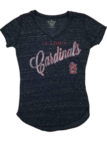 Shop St. Louis Cardinals SAAG WOMEN Navy Vintage Ultra Soft V-Neck T-Shirt
