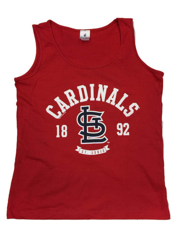 "St. Louis Cardinals SAAG WOMEN Red ""1892"" 100% Cotton Tank Top"