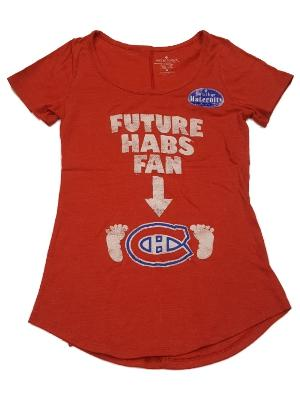 f84490367b347 Montreal Canadians SAAG WOMEN Maternity Red