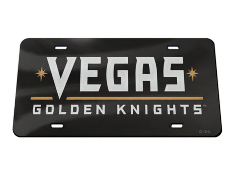 Shop Las Vegas Golden Knights NHL WinCraft Black Crystal Mirror License Plate Cover - Sporting Up