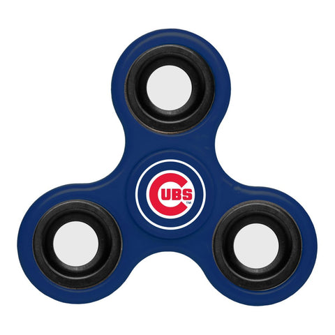 Shop Chicago Cubs MLB Blue Three Way Diztracto Fidget Hand Spinner