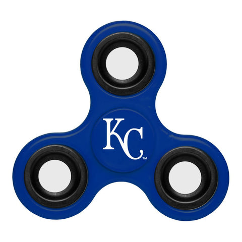 Shop Kansas City Royals MLB Blue Three Way Diztracto Fidget Hand Spinner - Sporting Up