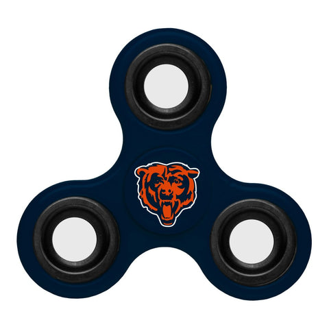 Chicago Bears NFL Navy Three Way Diztracto Fidget Hand Spinner - Sporting Up