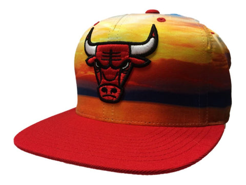 Shop Chicago Bulls Mitchell & Ness Sunset Adjustable Snapback Flat Bill Hat Cap