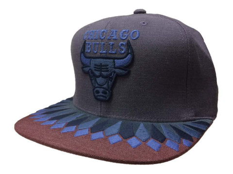 Shop Chicago Bulls Mitchell & Ness Purple Adjustable Snapback Flat Bill Hat Cap