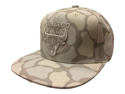 Shop Chicago Bulls Mitchell & Ness Tan Cow Print Conference Snapback Flat Bill Hat