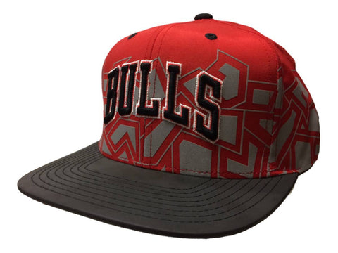 Chicago Bulls Mitchell & Ness Red Graphic Adjustable Snapback Flat Bill Hat Cap