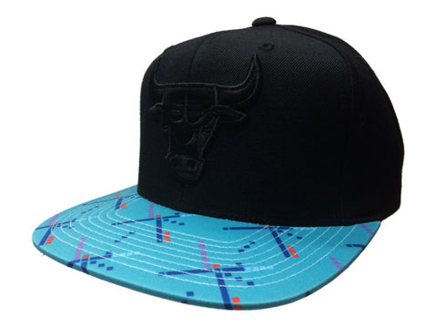 Shop Chicago Bulls Mitchell & Ness Black & Turquoise Adj. Snapback Flat Bill Hat Cap