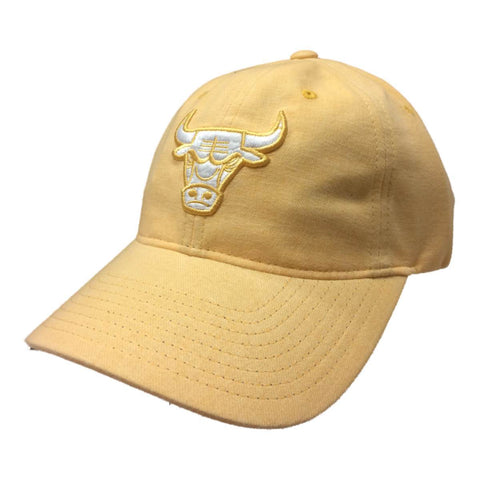 Shop Chicago Bulls Mitchell & Ness WOMEN'S Pastel Canary Yellow Strapback Hat Cap - Sporting Up