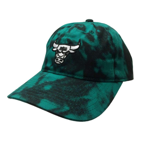 Shop Chicago Bulls Mitchell & Ness Green & Black Tie-Dye Adj. Strapback Hat Cap