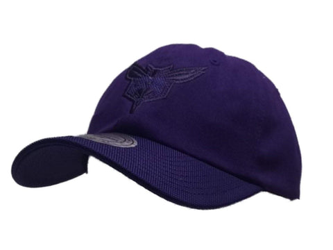 Shop Charlotte Hornets Mitchell & Ness Purple Relaxed Adjustable Baseball Hat Cap