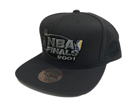 Los Angeles Lakers Mitchell & Ness Gray NBA Finals 2001 Adj. Flat Bill Hat Cap