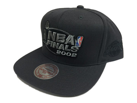 Los Angeles Lakers Mitchell & Ness 2002 NBA Finals Flat Bill Snapback Hat Cap