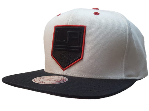 Shop Los Angeles Kings Mitchell & Ness White Red Adj. Structured Flat Bill Hat Cap