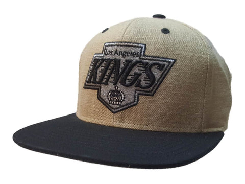 Los Angeles Kings Mitchell & Ness Beige Tweed Style Structured Flat Bill Hat Cap