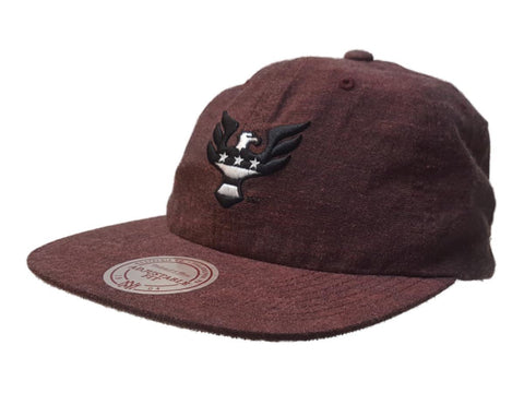 Shop D.C. United Mitchell & Ness Maroon Slouch Flat Bill Painter Style Adjust Hat Cap