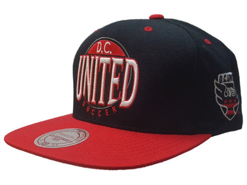 Shop D.C. United Mitchell & Ness Black Red Adjustable Flat Bill Snapback Hat Cap - Sporting Up