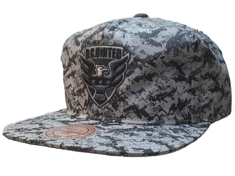 Shop D.C. United Mitchell & Ness Digi Camo Nylon Flat Bill Snapback Hat Cap