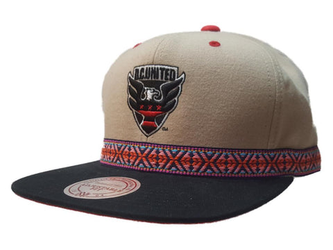 Shop D.C. United Mitchell & Ness Beige Tribal Structured Flat Bill Snapback Hat Cap - Sporting Up