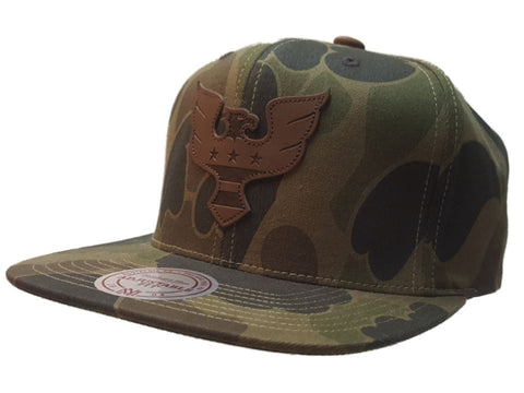 Shop D.C. United Mitchell & Ness Green Camo Adjustable Flat Bill Strapback Hat Cap - Sporting Up