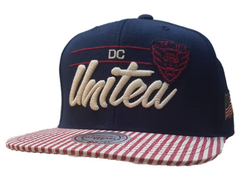 Shop D.C. United Mitchell & Ness American Flag Adj. Structured Flat Bill Hat Cap