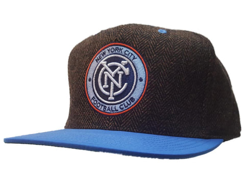 New York City FC Mitchell & Ness Tweed Structured Fitted Flat Bill Hat Cap 7 3/8