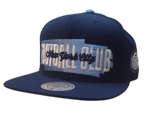 Shop New York City FC Mitchell & Ness Navy Football Club Flat Bill Snapback Hat Cap