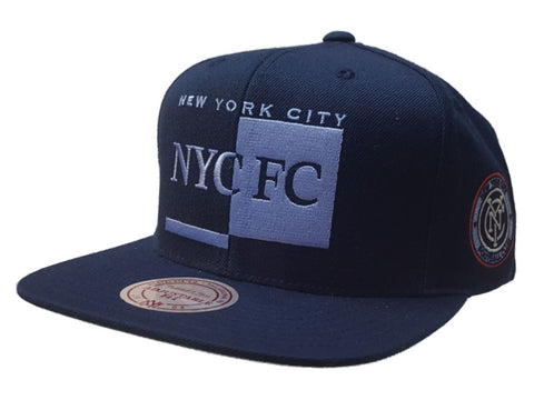 New York City FC Mitchell & Ness Navy MLS Flat Bill Adjustable Hat Cap