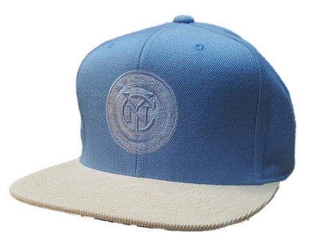 Shop New York City FC Mitchell & Ness Light Blue Corduroy Bill Adj. Flat Bill Hat Cap