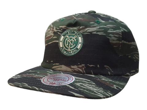 Shop New York City FC Mitchell & Ness Camo Semi-Structured Flat Bill Painter Hat