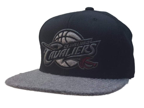 Shop Cleveland Cavaliers Mitchell & Ness Black Furry Fitted Flat Bill Hat Cap (7 3/8)