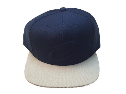 Shop Cleveland Cavaliers Mitchell & Ness Navy White Structured Adj. Flat Bill Hat Cap - Sporting Up
