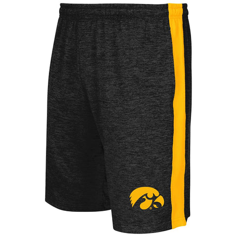 Shop Iowa Hawkeyes Colosseum Charcoal Elastic Waistband Workout Basketball Shorts