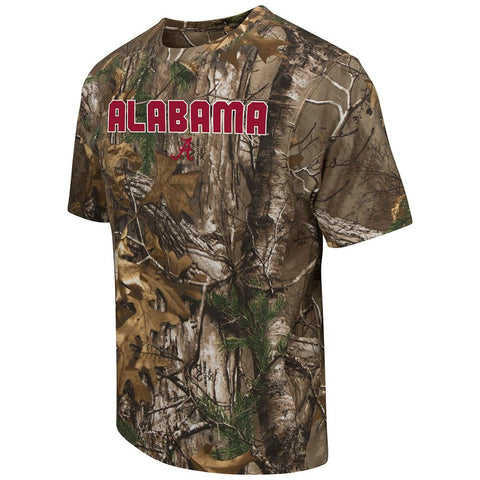 Shop Alabama Crimson Tide Colosseum Realtree Camouflage Short Sleeve T-Shirt