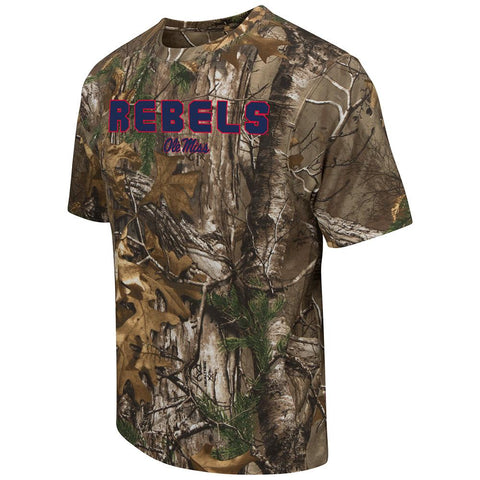 Shop Ole Miss Rebels Colosseum Realtree Xtra Camouflage Short Sleeve T-Shirt - Sporting Up