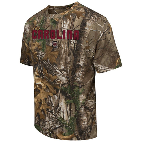 Shop South Carolina Gamecocks Colosseum Realtree Xtra Camo Short Sleeve T-Shirt - Sporting Up