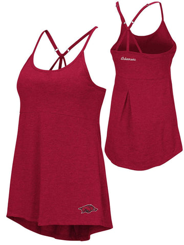 Shop Arkansas Razorbacks Colosseum WOMEN Red Spaghetti Strap Built In Bra Tank Top